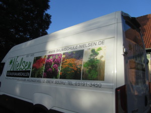 neuer Transporter der Baumschule Nielsen